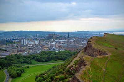 Salisbury Crags and Edinburgh