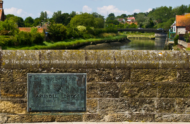 """Arundel Bridge in foreground of river banks scene, England SEE ALSO:   <a href=""""http://www.blurb.com/b/893070-impressions-of-the-uk"""">http://www.blurb.com/b/893070-impressions-of-the-uk</a>"""