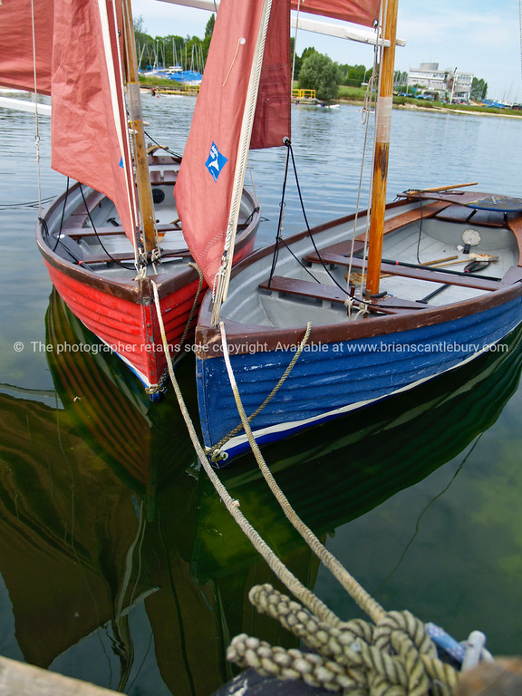 """Grafham Waters, sailing Club dinghies, rigged and waiting, A view of the UK, England. SEE ALSO:   <a href=""""http://www.blurb.com/b/893070-impressions-of-the-uk"""">http://www.blurb.com/b/893070-impressions-of-the-uk</a>"""
