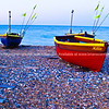 "Two traditional fishing boats, Worthing, England, Britain, United Kingdom. SEE ALSO:   <a href=""http://www.blurb.com/b/893070-impressions-of-the-uk"">http://www.blurb.com/b/893070-impressions-of-the-uk</a>"