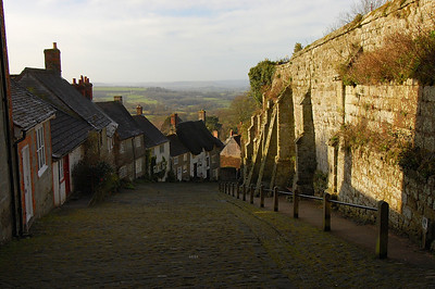 Gold Hill, a famous location in Dorset, England