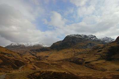 A section of the West Highland Way, in Northern Scotland