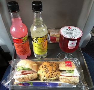 Lunch on the train from Glasgow to Edinburgh