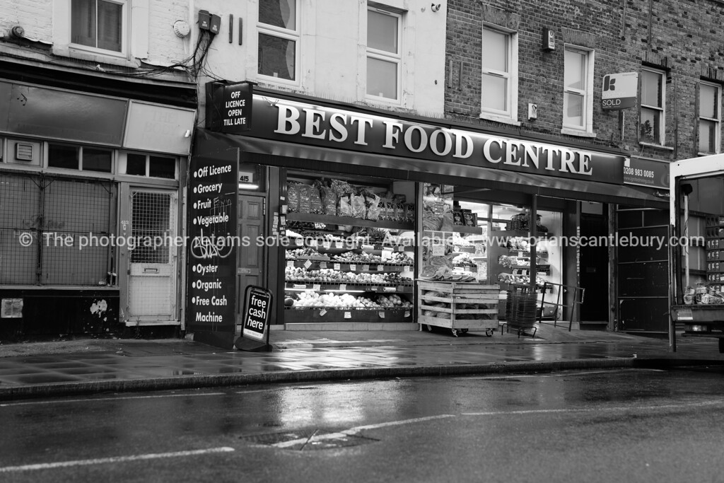 Neighborhood food shop London.