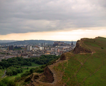 Person walking on Salisbury Crags
