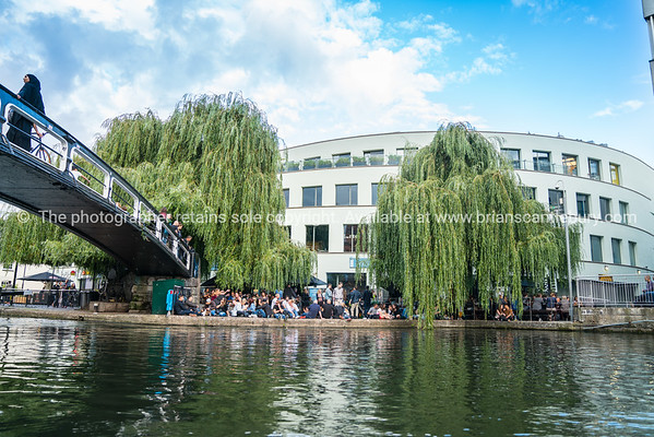 activity along London's Regent Canal.