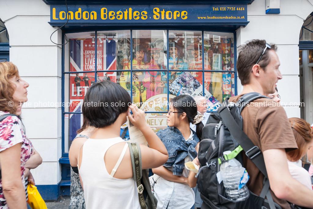Famous London Beatles Store selling  Memoriabilia, UK, England,