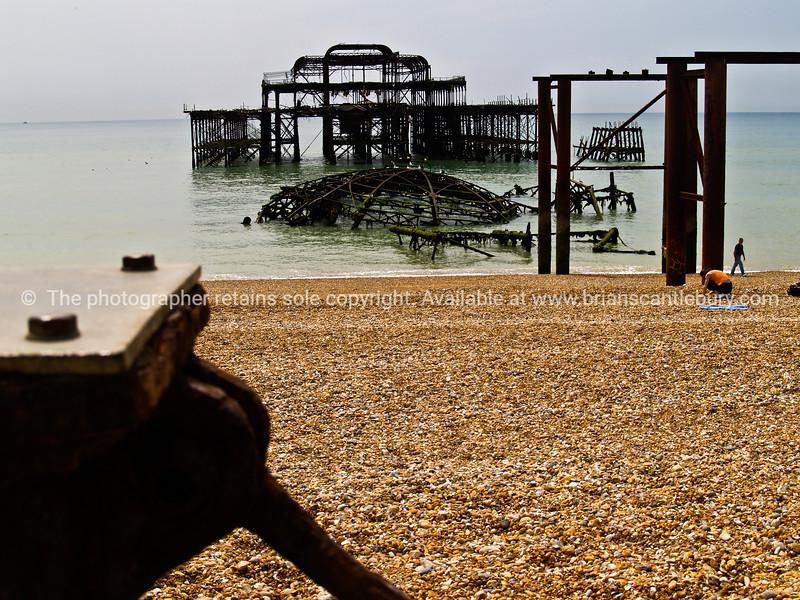 "Brightons old pier, England, Britian, United Kingdom. SEE ALSO:   <a href=""http://www.blurb.com/b/893070-impressions-of-the-uk"">http://www.blurb.com/b/893070-impressions-of-the-uk</a>"