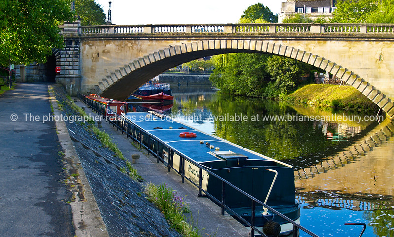 """Avon River at Bath, England, UK,reflected bridge and riverboats. SEE ALSO:   <a href=""""http://www.blurb.com/b/893070-impressions-of-the-uk"""">http://www.blurb.com/b/893070-impressions-of-the-uk</a>"""