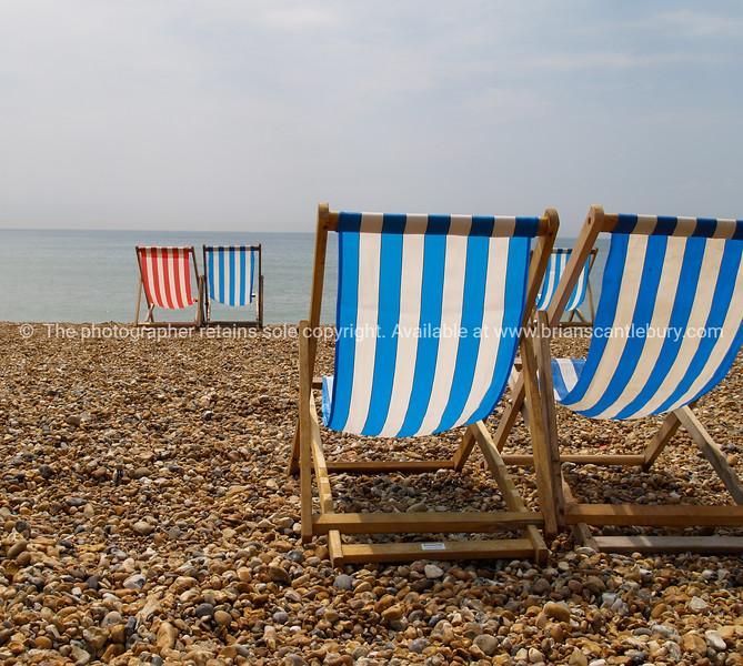 "Brighton Beach,  beach chairs synonymous of the beach, England, Britain, United Kingdom. SEE ALSO:   <a href=""http://www.blurb.com/b/893070-impressions-of-the-uk"">http://www.blurb.com/b/893070-impressions-of-the-uk</a>"