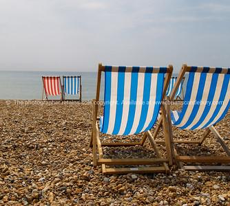 Brighton Beach,  beach chairs synonymous of the beach, England, Britain, United Kingdom. SEE ALSO:  www.blurb.com/b/893070-impressions-of-the-uk
