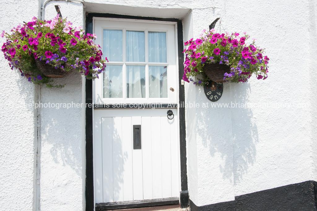 Dunsford door, Devon, England.