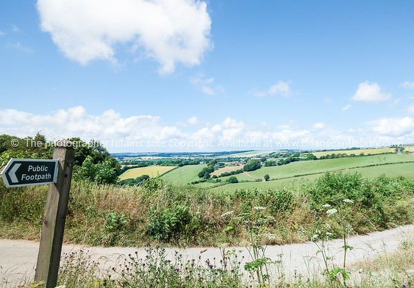 Low wide angle English countryside.