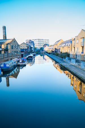Hertford Union Canal in East London, UK