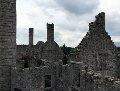 Rooftop ruins at Craigmillar Castle