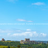 Dover Castle in English landscape