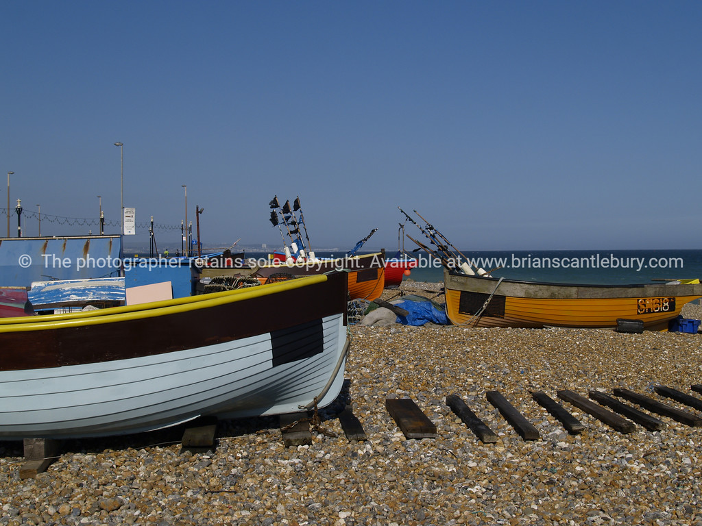 """Fishing boats of Worthing, England. SEE ALSO:   <a href=""""http://www.blurb.com/b/893070-impressions-of-the-uk"""">http://www.blurb.com/b/893070-impressions-of-the-uk</a>"""