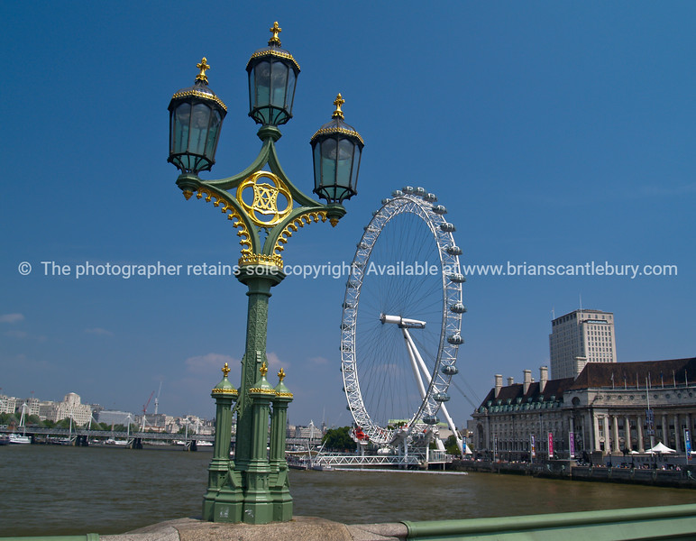 """London Eye, worlds largest ferris wheel on South Bank of River Thames. Photograph, A view of the UK SEE ALSO:   <a href=""""http://www.blurb.com/b/893070-impressions-of-the-uk"""">http://www.blurb.com/b/893070-impressions-of-the-uk</a>"""