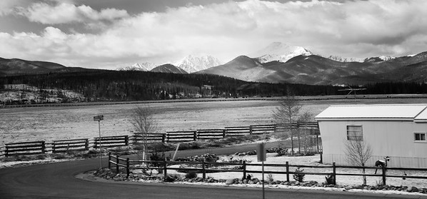 When I saw this house in the distance I decided to compose the image with the house in the corner and the mountains to the left.  It was challenging to get the composition just right but all things considered I like the way it turned out....If only the train had stopped for me to make a few images in this location...lol