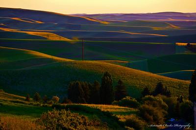 Sunset over teh Palouse - Moscow Idaho