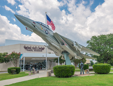 Front of Naval Aviation Museum in Pensacola, Florida