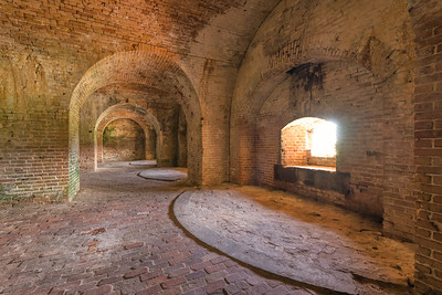 Old Hallways In Fort Pickens