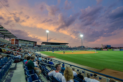 Sunset at Blue Wahoos Stadium Pensacola