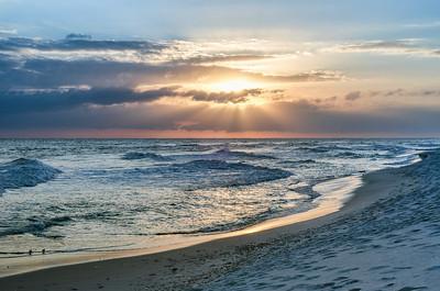 Sunbeam Sunset on Pensacola Beach