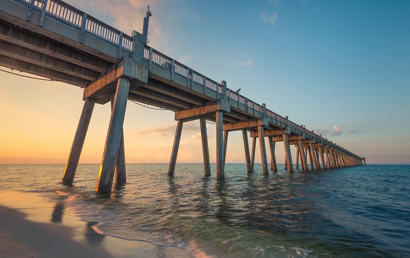 Pensacola Pier Sunrise Colors