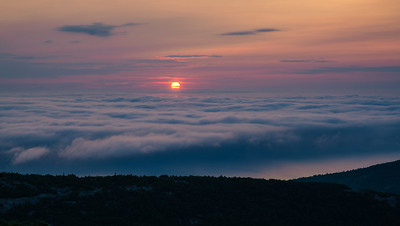 Sunrise Over Fog in Acadia
