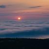 Sunrise Over Fog in Acadia