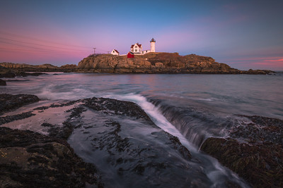 Magic Hour At The Nubble Lighthouse