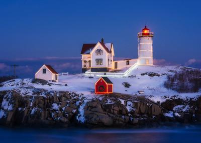 Christmas Nubble Lighthouse