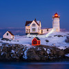 Christmas Nubble Lighthouse