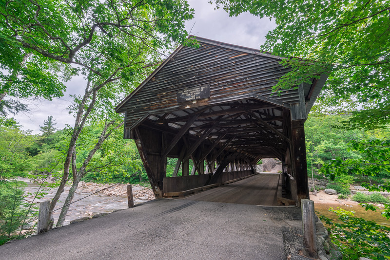The Road Through The Albany Covered Bridge