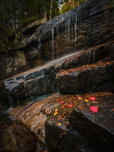 Champney Falls In Autumn