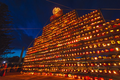 Display of Pumpkins at New Hampshire Pumpkin Festival