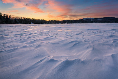 A Winter's Sunset On Highland Lake