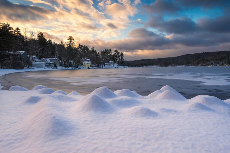 Fresh Snow On Webster Lake