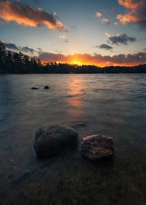 Lakes Region November Sunset