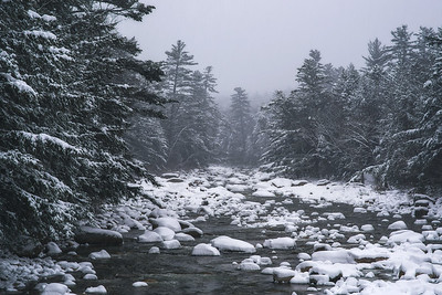 Fresh Snow On The Pemigewasset River