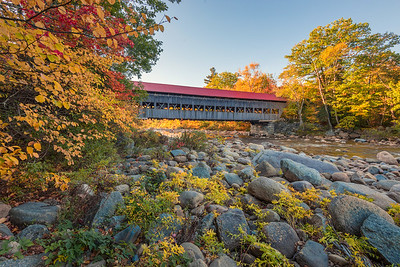 Albany Covered Bridge In Autumn