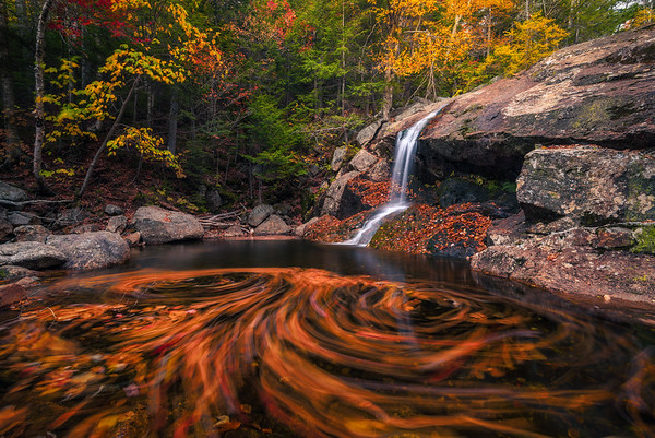 Double Autumn Swirl At Thompson Falls