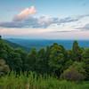 Dusk Colors Over The Blue Ridge Mountains