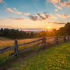 Fenced In Sunset In The Blue Ridge Mountains