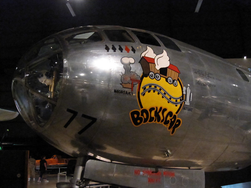 "Boeing B-29 Superfortress ""Bockscar"" in the Air Power Gallery at the National Museum of the United States Air Force"