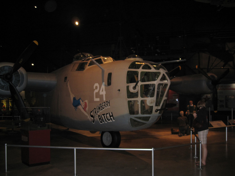 B-24D Liberator in the Air Power Gallery at the National Museum of the United States Air Force