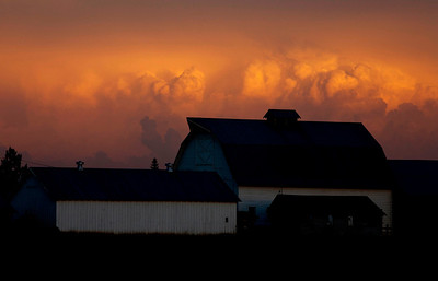 Barn Sunset Storm Clouds_2090