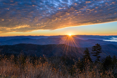 Clingmans Dome Sunbeam Sunrise