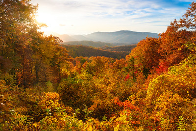 Autumn Burst In The Smoky Mountains